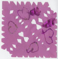 Purple snowflake with glitter hearts
