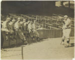 Babe Ruth photographing Boston Red Sox team members at Fenway Park